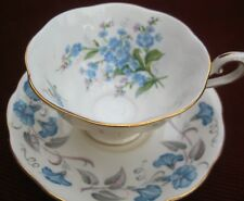 Royal Albert cup and saucer in soft blue .