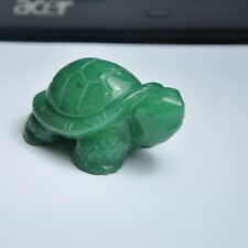 Luck Tortoise Statue Chinese Green Dongling Jade Figurine New Good, No Enhance