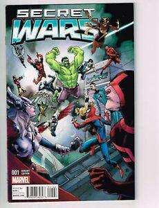 Secret Wars #1 2015 2nd printing Variant Superhero Stuff MARVEL COMICS