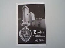 advertising Pubblicità 1936 BROLIO VINO - CASA VINICOLA BARONE RICASOLI FIRENZE