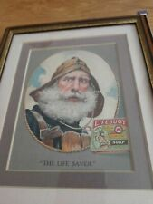 Vintage Lifebuoy Soap Advert Picture card  MINT Framed very rare issue