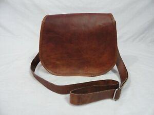 Vintage Leather Crossbody Bag Women Handbag Purse Wallet Satchel Messenger Sling