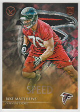 JAKE MATTHEWS 2014 Topps Valor Football Speed Parallel Card #116 Falcons