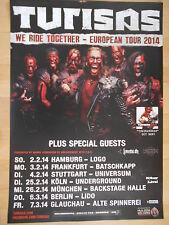 TURISAS  2014  TOUR  --  orig. Concert Poster - Konzert Plakat  A1  NEU