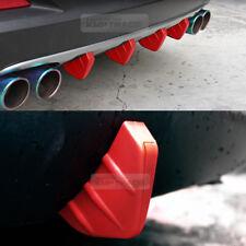 Bumper Diffuser Molding Aero Parts Lip Fin Body Spoiler Chin Red 4P for FORD Car