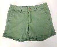 American Eagle Twill X Midi Shorts Womens Sz 4 Green Chino Stretch Bottoms