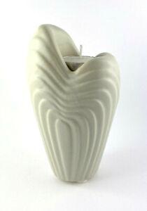 Vase Heart Shape Ceramic As Tealight Holder Grey 9,5x6,2x16,7cm