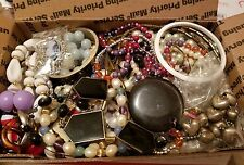 unsearched untested lot of junk costume jewelry vintage modern lbs wearable g70