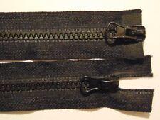 60-110 cm 2!ZWEIWEGE Reißverschluss Plastik Kunststoff schwarz grob für Jacken