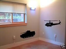 Kids Army Tank and Helicopter Wall Art Sticker Military