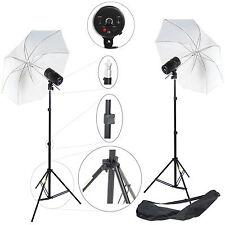 2x Kit Éclairage Barebulb Lampe DynaSun 2xCY100KIT 100W Flash Parapluie Trépied