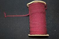 DEADSTOCK VINTAGE 1920'S-1930'S DARK RED SILK ZIGZAG TRIM 1/4 INCH 10 YARDS