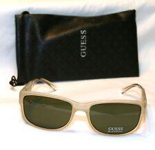 Genuine GUESS GU6755-CRY-2 Men's Rectangle Sunglasses Gray Lens TRANSLUCENT NEW!