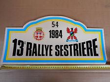 13 RALLY SESTRIERE '84 TARGA ORIGINALE RALLY DELTA HF INTEGRALE WRX COSWORTH GTI