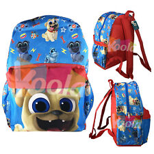 "New Disney 16"" Puppy Dog Pals Bingo & Rolly Back To School Backpack Book Bag"