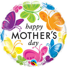 """MOTHER'S DAY PARTY SUPPLIES 18"""" HAPPY MOTHER'S VIVID BUTTERFLIES BALLOON"""