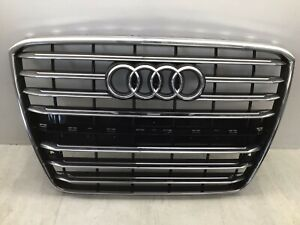 2011-2014 Audi A8 Quattro OEM Radiator Grille Assembly 4H0-853-651-H-T94