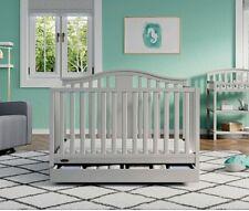 Graco Solano 4 in 1 Convertible Crib with Drawer Pebble Gray Elegant Nursery
