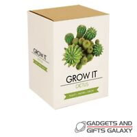 Cactus Plant Gro It Kit Grow Your Own Seeds Fun Prickly Nature Science Gifts