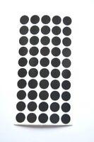 50 x hochreflektierende Reflektorpunkte, Feuernadel,schwarz, Geocaching Oralite