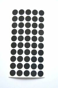 50 X Highly Reflective Reflective Spots, Fire Tacks, Black, Geocaching Oralite