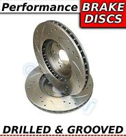Peugeot 206 1.4 HDi ABS 02-07 Drilled & Grooved Sport FRONT Brake Discs Rotors