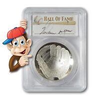2014-P Baseball HOF Silver $1 -- PCGS PR70 -- Hand Signed By Nolan Ryan