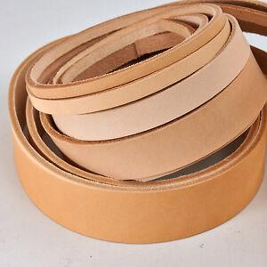 """Veg Tanned Natural Vachetta Leather Straps Belt Blanks 41""""-43"""" 9/10 oz"""
