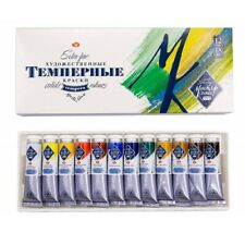 Tempera Paint Set MASTER CLASS Professional 12 colors 18ml Russian Tempera