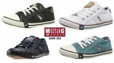 Mustang Patternless Lace Up Trainers for Women