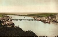Old Photochrom PPC Bideford, The River and Bridge