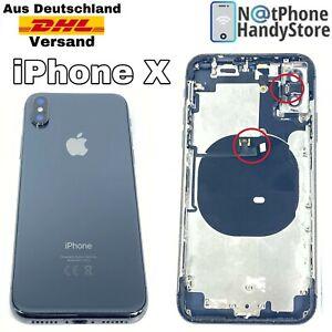 Für iPhone X Original Mittelrahmen Backcover Laut Leise, Power Tasten Schwarz