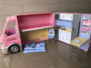 BARBIE CAMPERVAN - HOT TUB PARTY BUS - NO ACCESSORIES - WITH INSTRUCTIONS