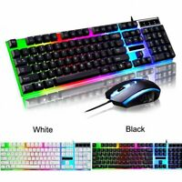 VicTsing Wired LED Backlit Gaming Keyboard 2.4GHz Ergonomic Mouse For PC Laptop