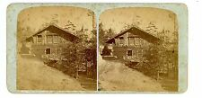 Watkins Glen NY -GLEN MOUNTAIN HOUSE ON NORTH CLIFF - G.F. Gates Stereoview
