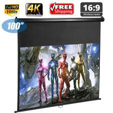 Excelvan 100 Inch diagonal 16 9 ratio 1.2 Gain pantallas para proyectores
