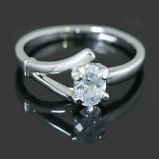 Alloy White Gold Simulated Sterling Silver Fashion Rings