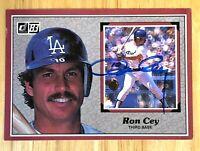 1983 Donruss #21 Ron Cey hand signed autographed postcard sized card LA Dodgers