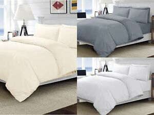 100% EGYPTIAN COTTON 400 THREAD COUNT DUVET COVER SET FITTED SHEET HOTEL QUALITY
