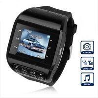 Unlocked Touch Screen GSM Dual SIM Bluetooth Hidden Camera Watch Cell Phone Q8