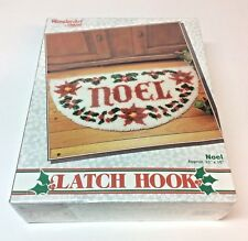 "WonderArt Caron Latch Hook Rug Kit #4576 ""Noel"" Christmas Holly 33x16 New Sealed"