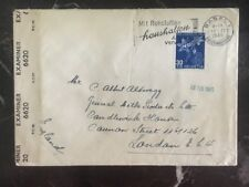 1945 Basel Switzerland censored airmail cover to General Milk London England B