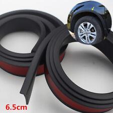 "Black Rubber 1.5m 59"" Car Wheel Fender Flares Strip Scratch Guard Adhesive 2Pcs"