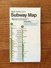 VINTAGE NYCTA NEW YORK CITY SUBWAY MAP 1979 REVISED FALL OF 1985