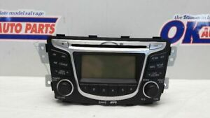 12-14 HYUNDAI ACCENT RADIO RECEIVER AM FM CD MP3 961701R1004X
