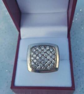 Round Cubic Zirconia Stones Set in Handmade Designer Men's One of A Kind Ring