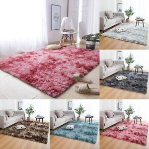 Shaggy Area Rugs Fluffy Tie-Dye Floor Soft Carpet Living Room Bedroom Large Rug