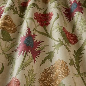 Acanthium Garnet - By iliv - 100% Cotton Thistle , Floral Fabric - 2.6m Piece