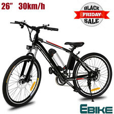 26'' Electric Bike Ebike Mountain Bike City Cycling 21-Speed 36V Bicycle E-MTB