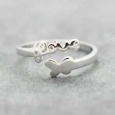 Womens Adjustable Rings 925 Sterling Silver Plated Wedding Engagement Thumb #15